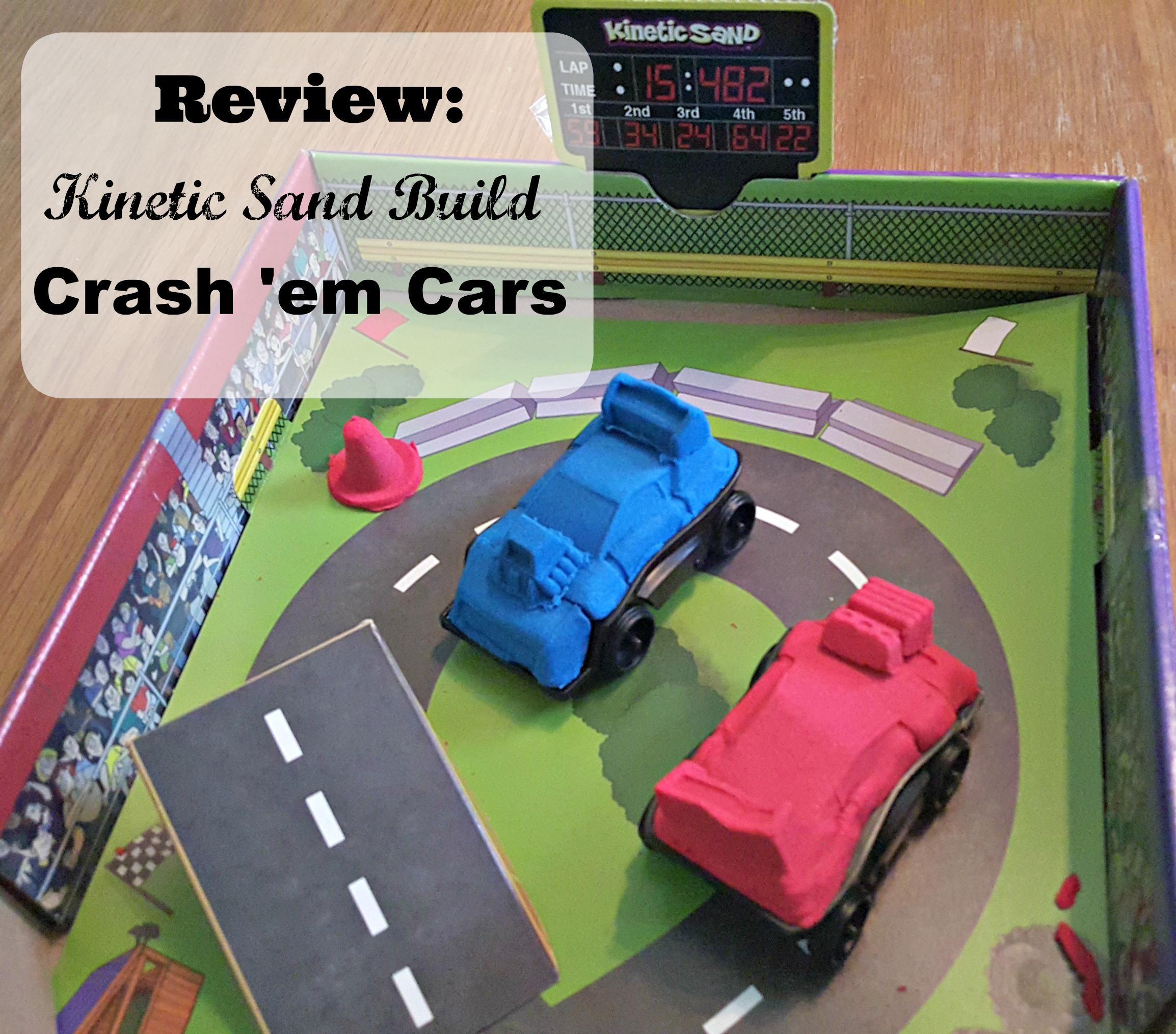 Kinetic Sand Crash Em Cars